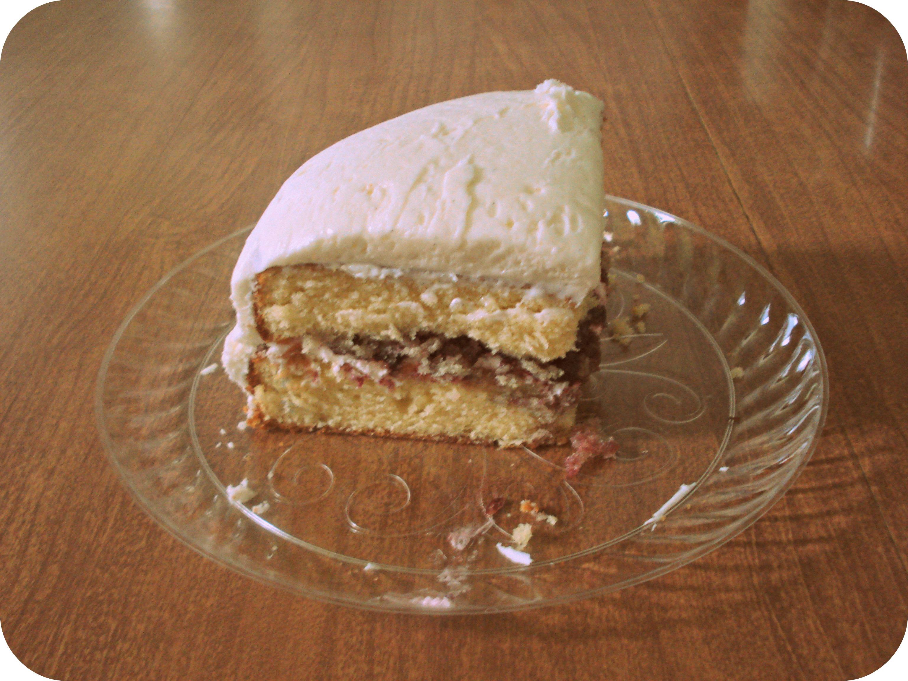 Blueberry Vanilla Birthday Cake