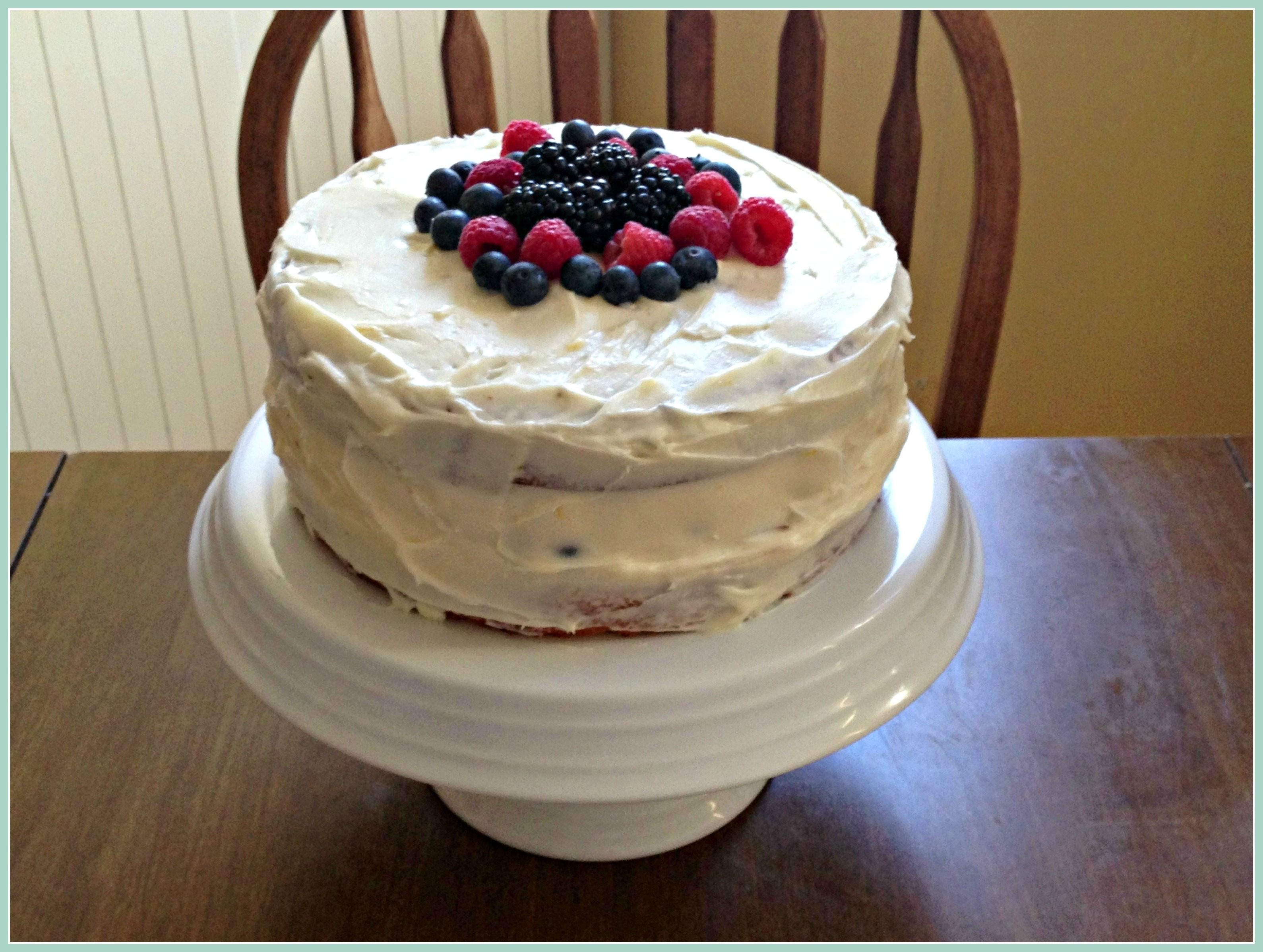Lemon Buttermilk Cake with Berries