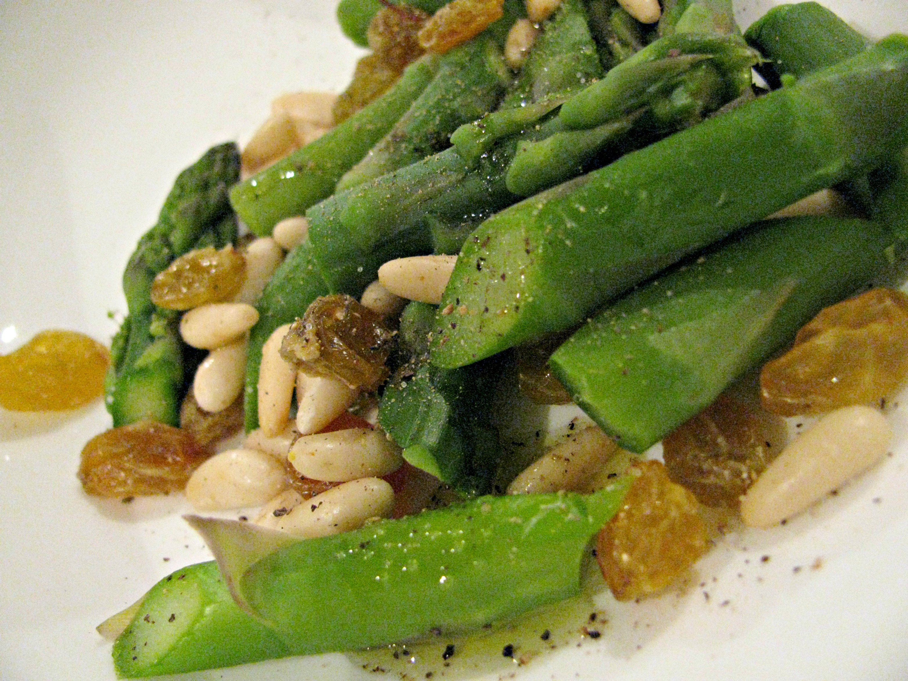 Burrata With Asparagus, Pine Nuts, And Golden Raisins ...